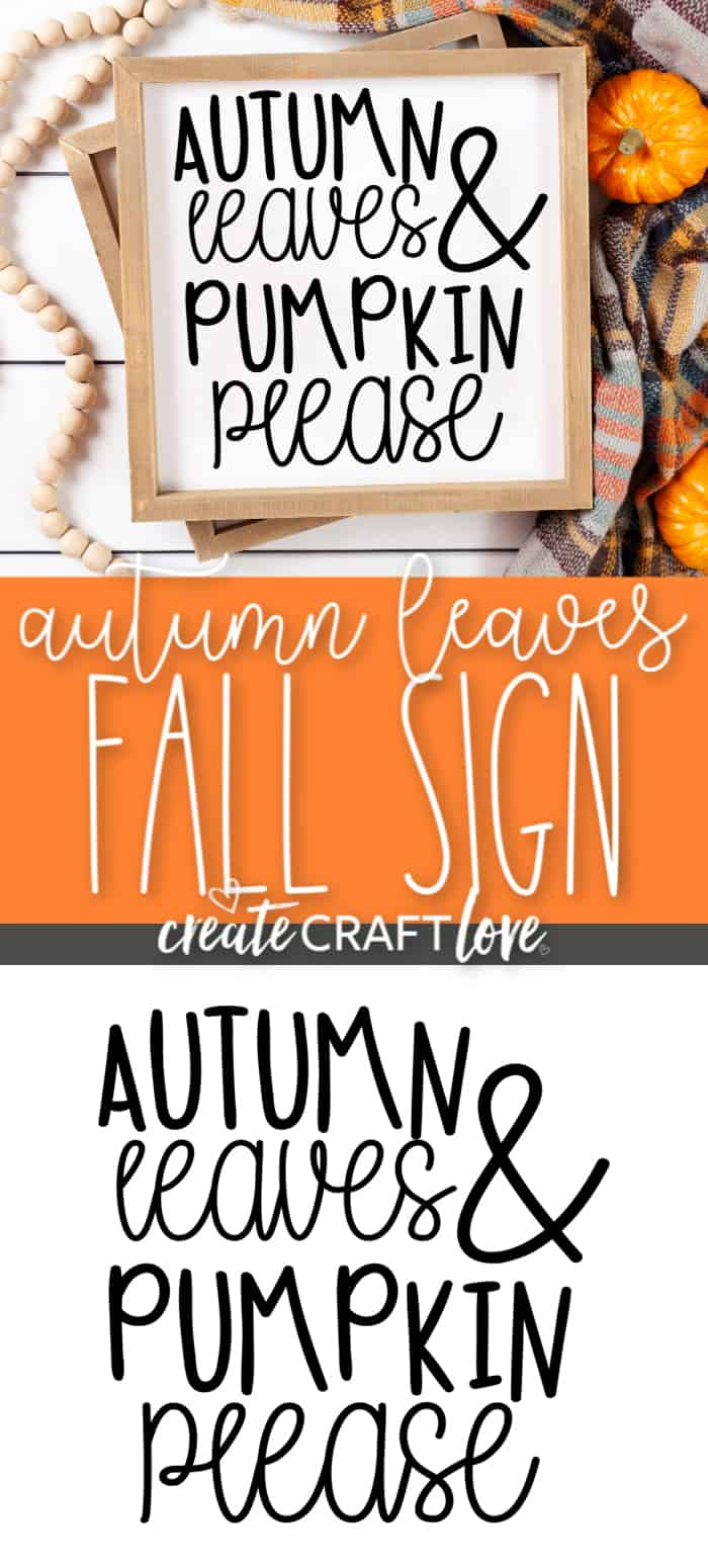 Farmhouse inspired Autumn Leaves Fall Sign #fall #falldecor #cricut #cricutmade