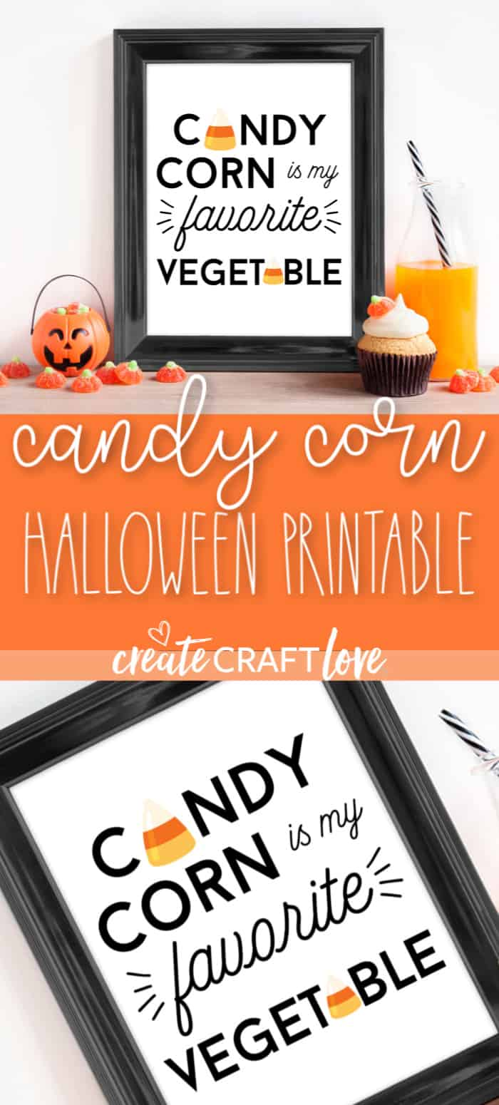Grab your free Candy Corn Printable for Halloween!