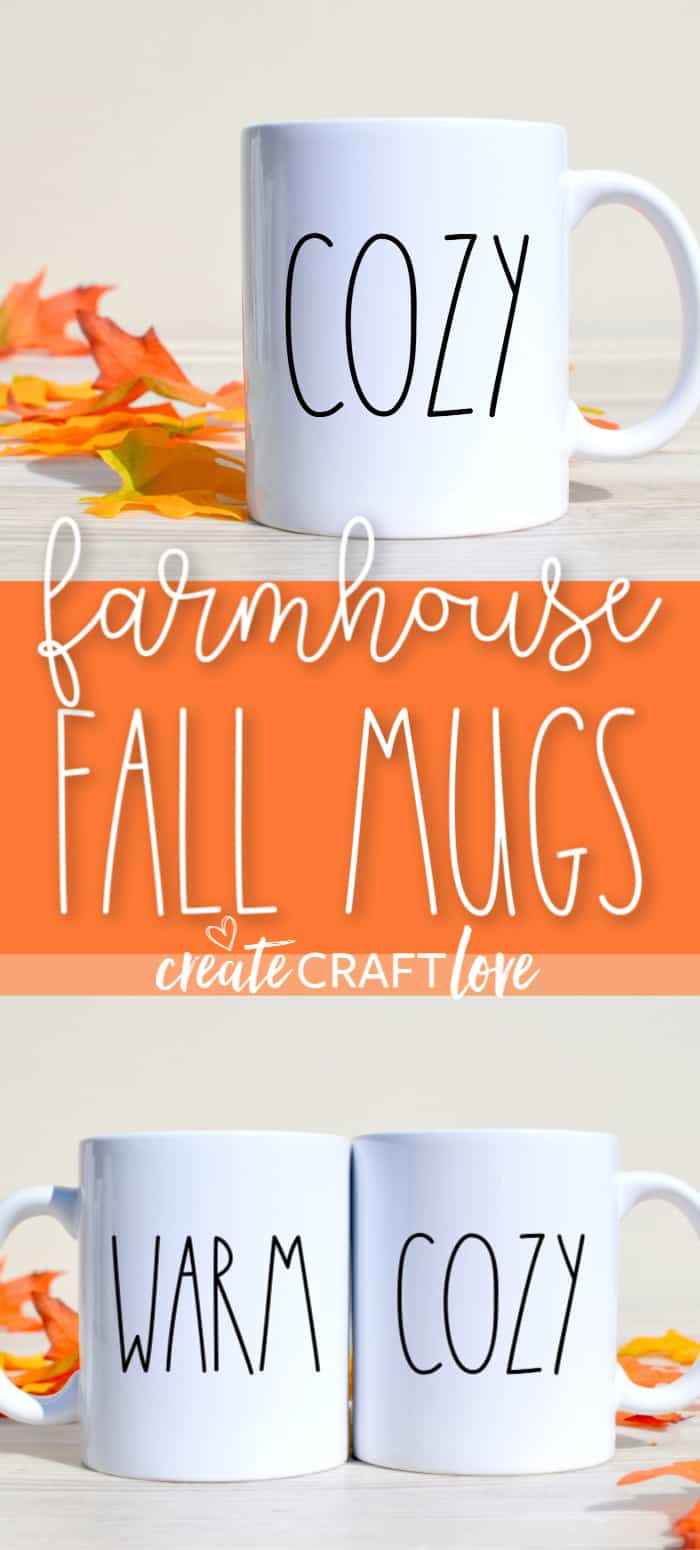 Rae Dunn inspired Farmhouse Fall Mugs?! #falldecor #farmhouse #freesvgfile