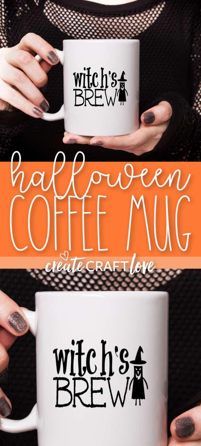 Sip your brew from our cute Halloween Coffee Mug! #halloween #halloweencutfiles