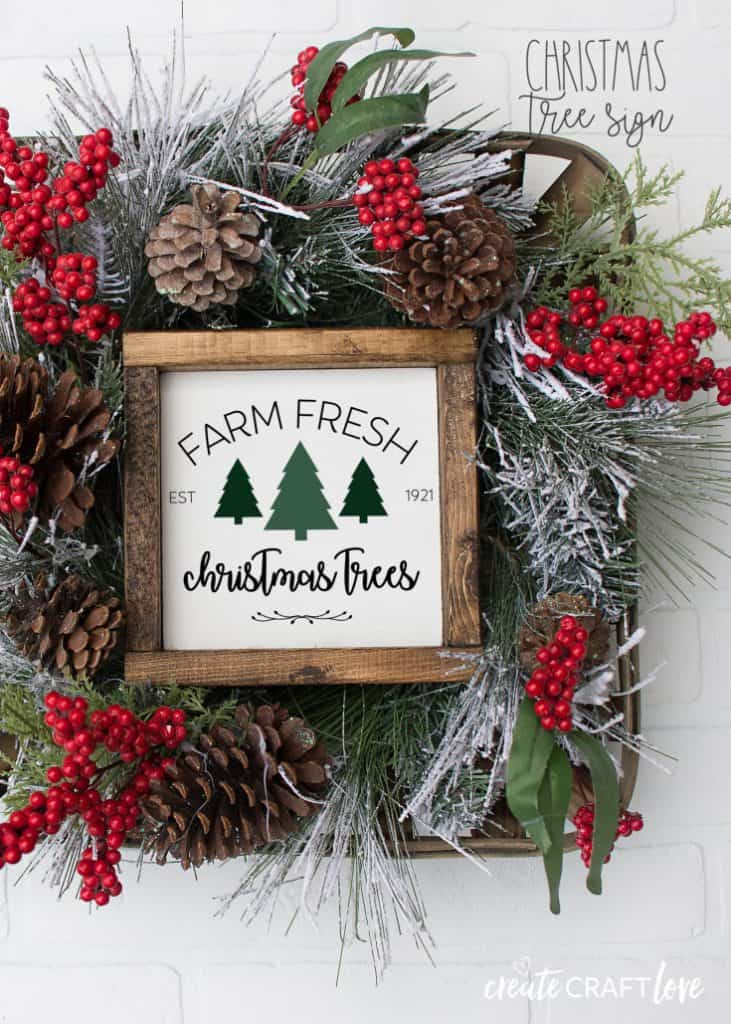 Christmas Tree Farmhouse Sign