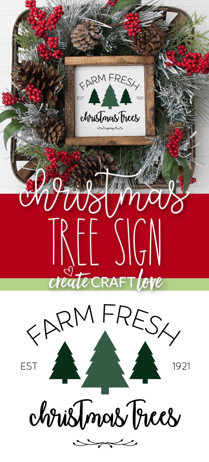 This Christmas Tree Farmhouse Sign is a great addition to your holiday and seasonal decor! #christmas #christmasdecor #cricut