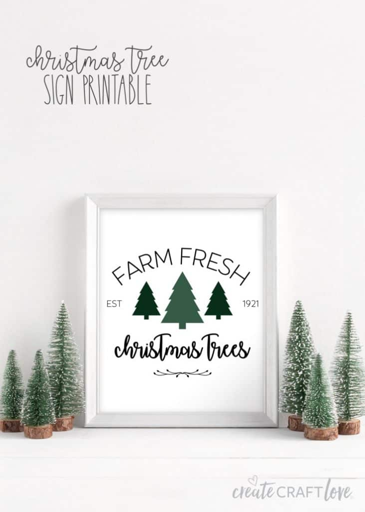 christmas tree sign printable
