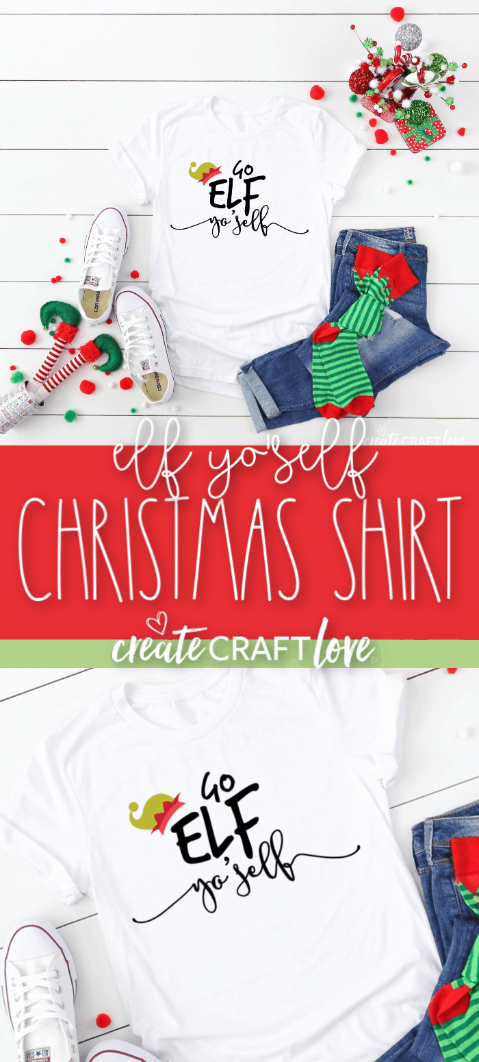 Elf Yo'Self Christmas Shirt #christmas #christmascutfiles #christmascrafts