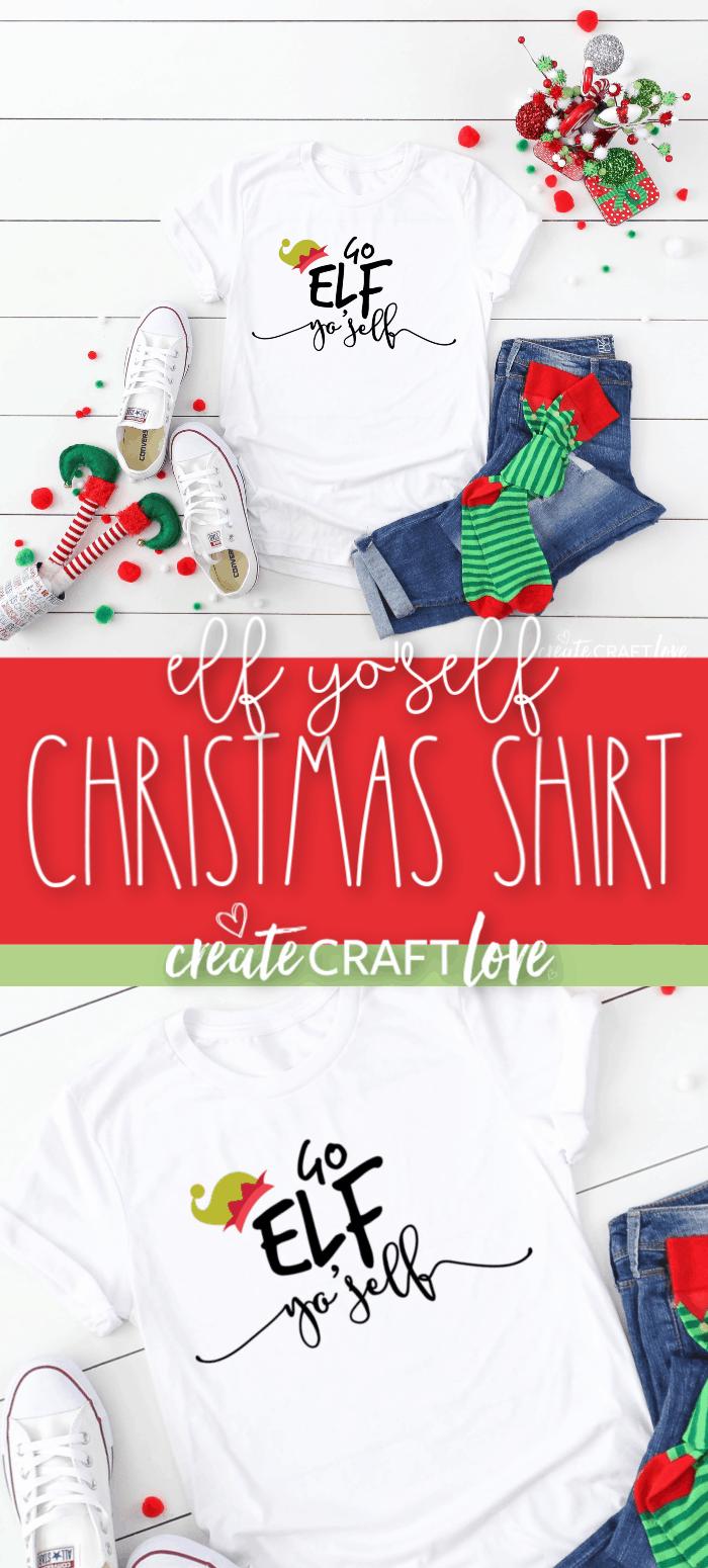 Elf Yo'Self Christmas Shirt #christmas #christmascutfiles #christmascrafts