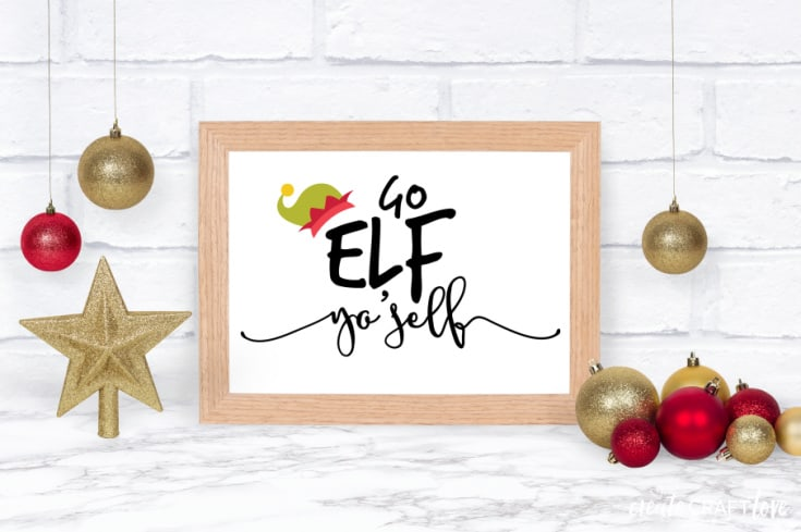 elf yo'self printable