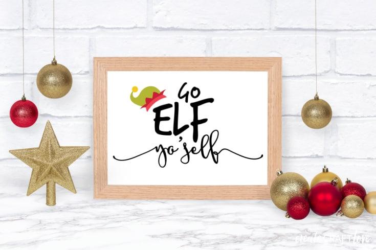 elf yo'self printable