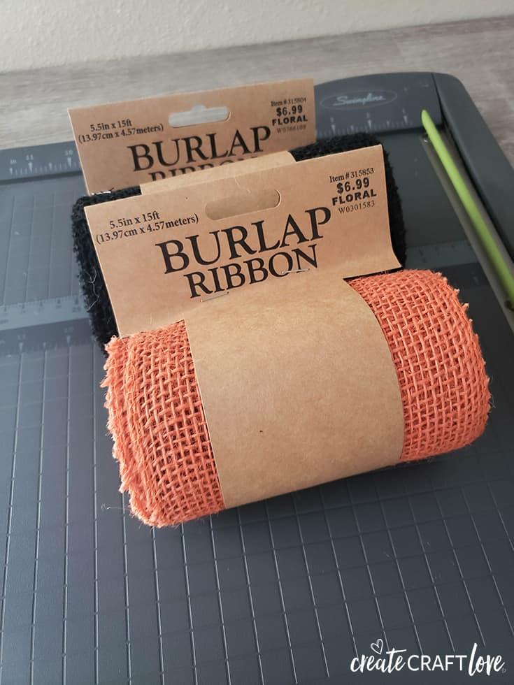 burlap ribbon from hobby lobby