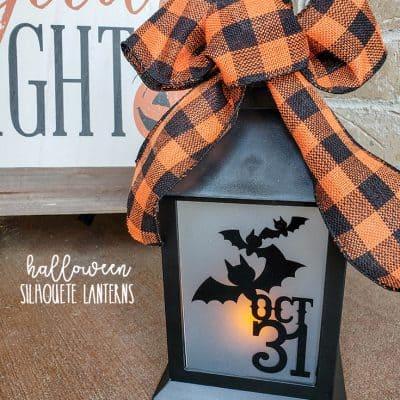 Halloween Silhouette Lanterns #halloween #halloweendecor