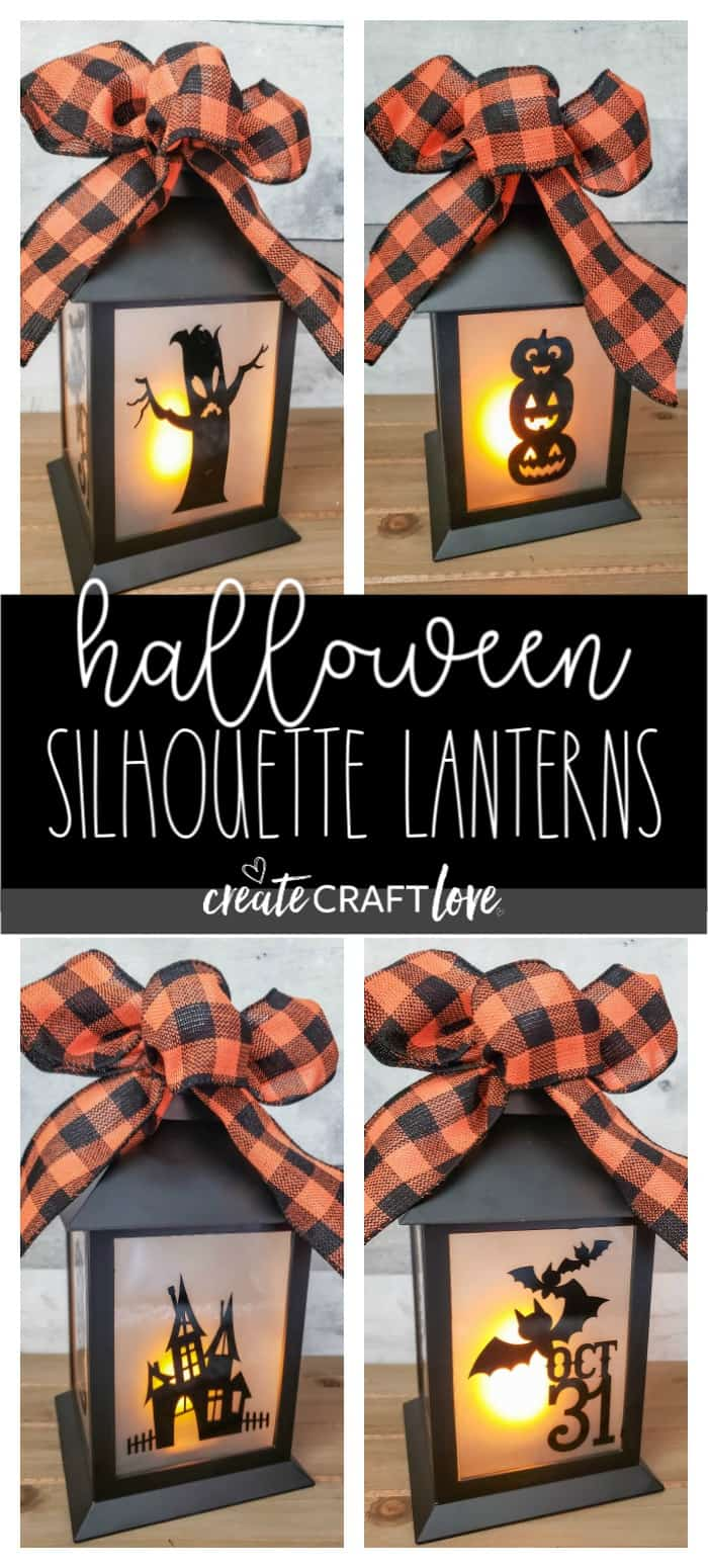 These Halloween Silhouette Lanterns are a great addition to your fall and seasonal decor! #halloween #halloweendecor