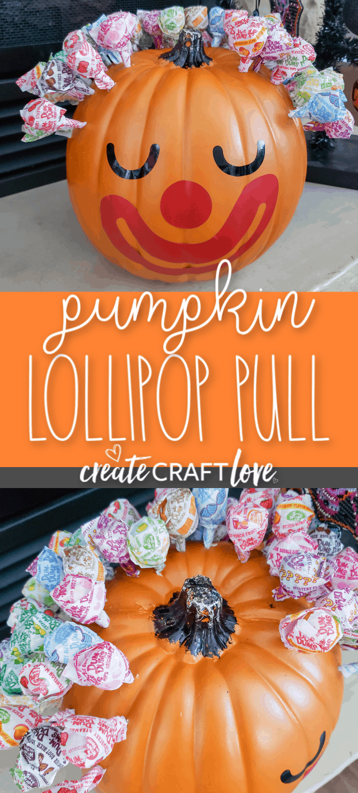 This Pumpkin Lollipop Pull is so easy to make!