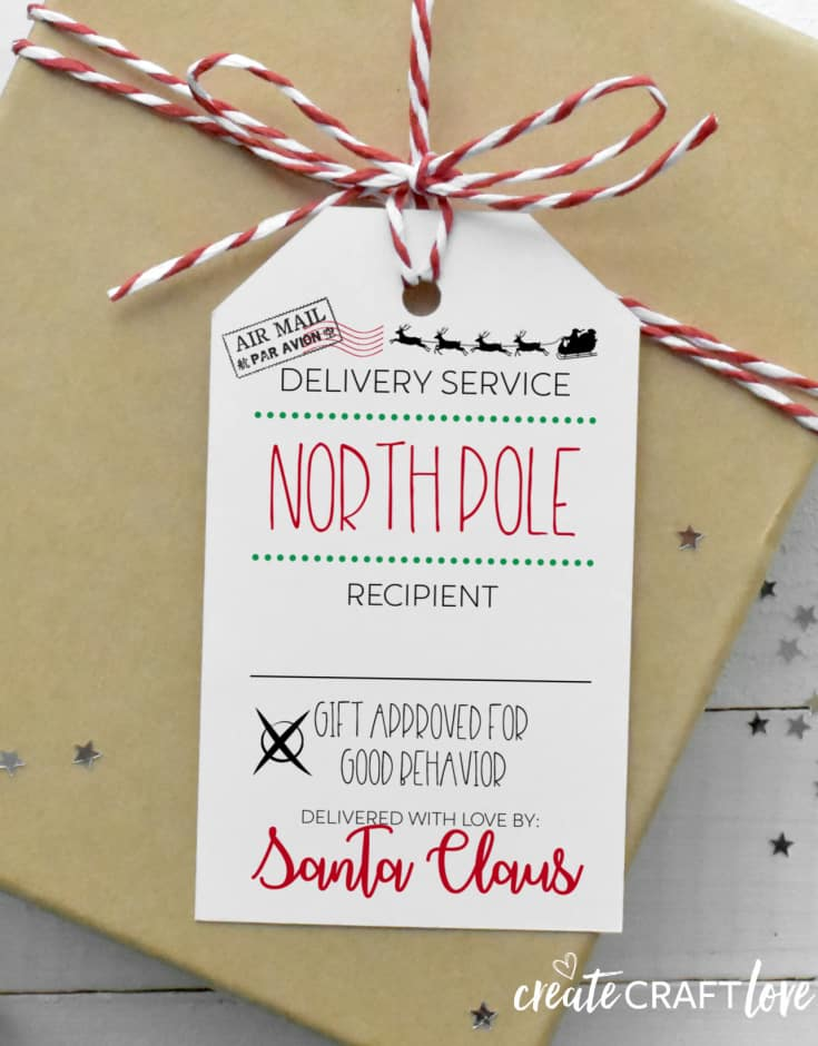 It's just a photo of Ridiculous Santa Gift Tags Printable