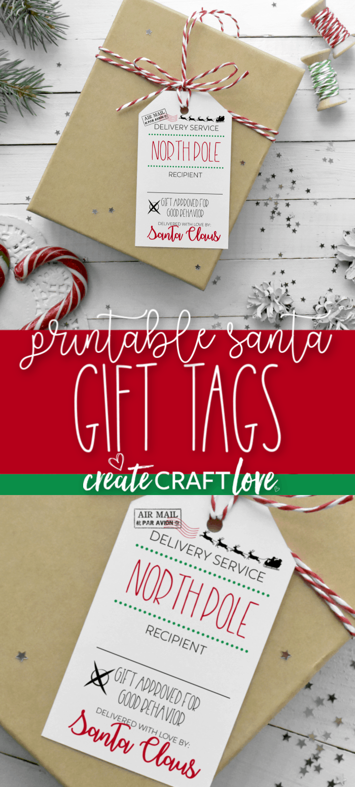 Surprise the kids with a special delivery this Christmas by using our Printable Santa Gift Tags! #christmas #christmasprintables