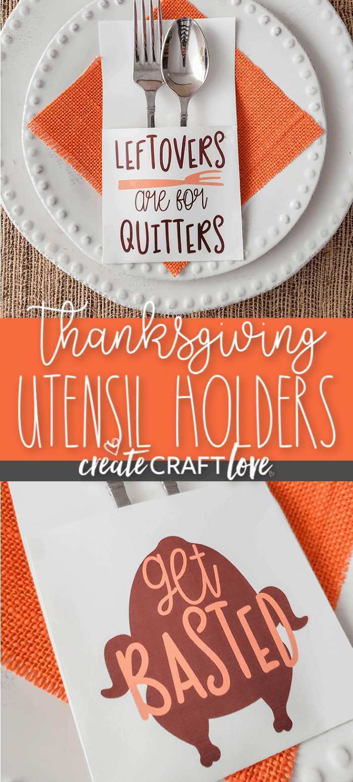 These snarky Thanksgiving Printable Utensil Holders will be a hit around the table this holiday! #thanksgiving #thanksgivingprintables